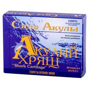 Акулий хрящ - Сила Акулы, 20 капсул