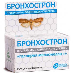 Бронхострон с восковой молью - Доктор Корнилов, 56 капсул