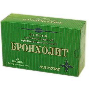 Травяной пряноароматический напиток Бронхолит, 20 ф/п