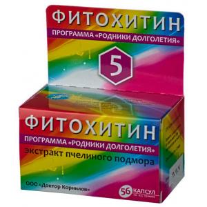 Фитохитин-5 Климакс-контроль с экстрактом пчелиного подмора, 30 капсул