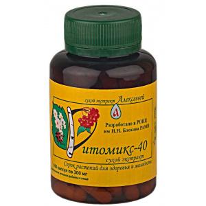 Фитомикс-40 Бальзам Алексеевой сухой экстракт, 100 капсул