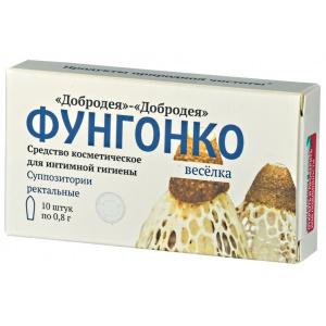 Фунгонко-Весёлка свечи ректальные, 10шт*0.8гр