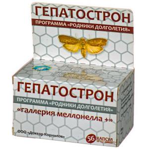 Гепатострон с восковой молью - Доктор Корнилов, 56 капсул