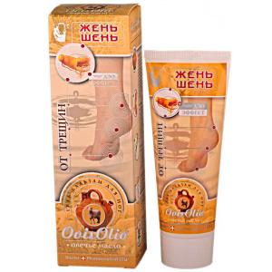 Овечье масло гель-бальзам для ног от трещин Женьшень+DЭO-эффект, 70мл