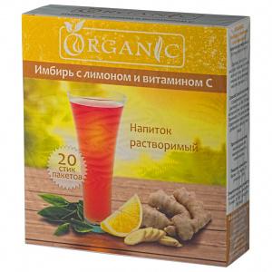 Растворимый напиток имбирь с лимоном и витамином С, 20 стик - пакетов