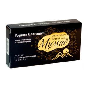 Алтайское мумиё ректально-вагинальное, свечи 10 шт по 1,2 г