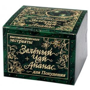 Зеленый чай + Ананас для похудения, 60 капсул