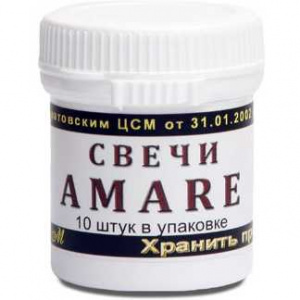 Свечи Amare с амарантом, 10шт