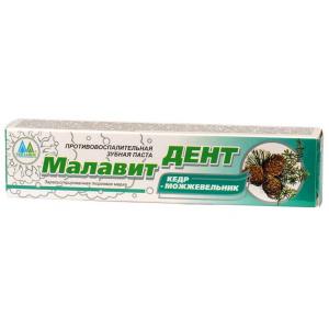МалавитДент Зубная паста Кедр и Можжевельник, 70 г