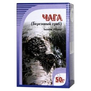 Березовый гриб Чага, 50гр