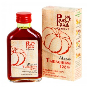 Тыквенное масло (100%), РАДОГРАД, 100мл