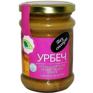 Урбеч - натуральная паста из грецких орехов, 280гр