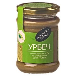 Урбеч - натуральная паста из очищенных семян тыквы, 280гр