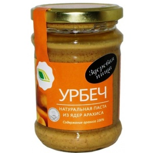 Урбеч - натуральная паста из ядер арахиса, 280гр