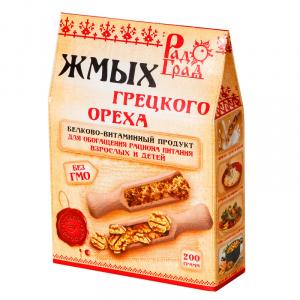 Жмых грецкого ореха, РАДОГРАД, 200гр